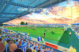 Hand Painted original of deva stadium